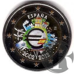España. 2012. 2 Euro (SC) Coloreada