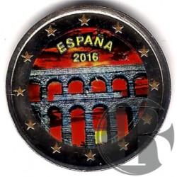 España. 2016. 2 Euro (SC) Coloreada