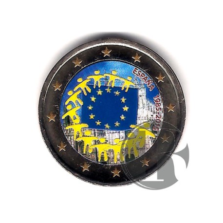 España. 2015. 2 Euro (SC) Coloreada
