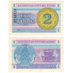 (2d) Kazajstan. 1993. 2 Tiyn (SC)