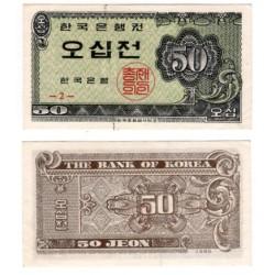 (29) Corea del Sur. 1962. 50 Jeon (SC) Pequeña mancha