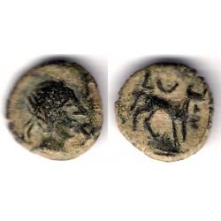 Cástulo (Jaen). 50 a.C. Semis (MBC-)