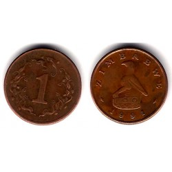 (1) Zimbabue. 1991. 1 Cent (BC+)