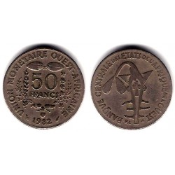 (6) Estados África Oeste. 1982. 50 Francs (MBC)