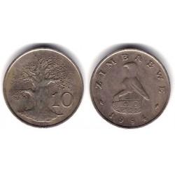 (3) Zimbabue. 1994. 10 Cents (MBC)