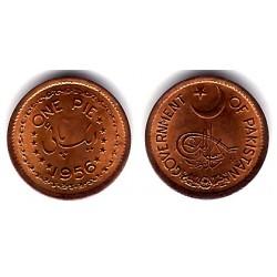 (11) Pakistán. 1956. 1 Pie (EBC)