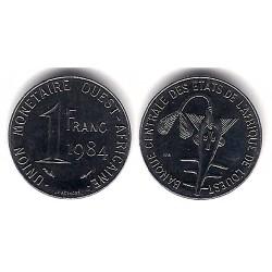 (8) Estados África Oeste. 1984. 1 Franc (SC)