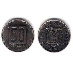 (90) Ecuador. 1988. 50 Centavos (EBC)