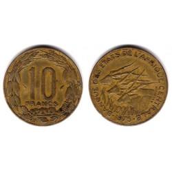 (9) Estados África Central. 1975. 10 Francs (MBC-)