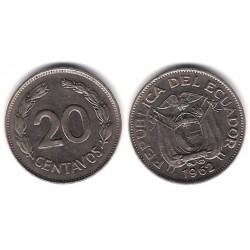 (77.1c) Ecuador. 1962. 20 Centavos (MBC+)