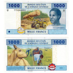 (207Ue) Estados África Central. 2002. 1000 Francs (SC)