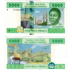 (509Fb) Estados África Central. 2002. 5000 Francs (SC)