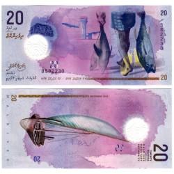 (27) Maldivas. 2015. 20 Rufiyaa (SC)
