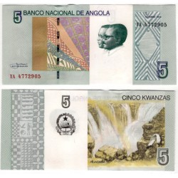 (151A) Angola. 2012. 5 Kwanzas (SC)