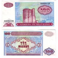 (18b) Azerbaiyán. 1993. 100 Manat (SC)