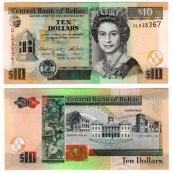 (68e) Belice. 2016. 10 Dollars (SC)