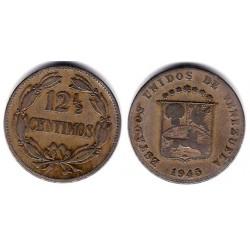 (Y30a) Venezuela. 1945. 12 ½ Centimos (BC+)