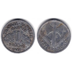 (902.1) Francia. 1942. 1 Franc (BC)