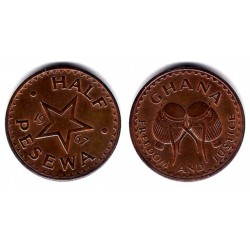 (12) Ghana. 1967. Half Pesewa (EBC)