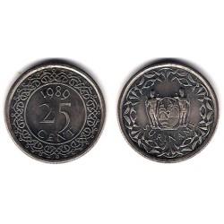 (14a) Surinam. 1989. 25 Cents (SC)