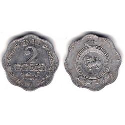 (128) Ceilán. 1971. 2 Cents (MBC)