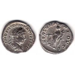 Caracalla. 211 a 217 d.C. Denario (MBC+) (Plata)