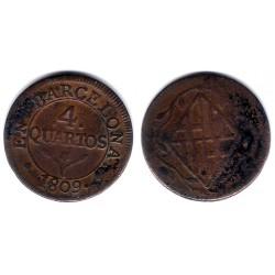 José Napoleón. 1809. 4 Cuartos (MBC-) Ceca de Barcelona
