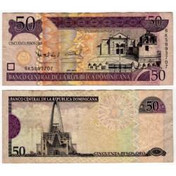 (176A) República Dominicana. 2008. 50 Pesos Oro (MBC)