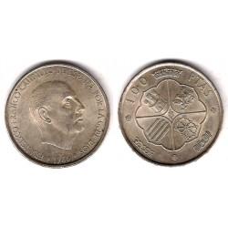 Estado Español. 1966*(19-67). 100 Pesetas (EBC) (Plata)