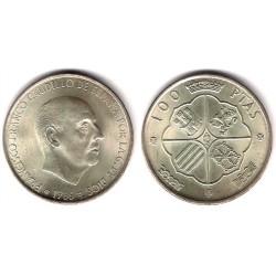 Estado Español. 1966*(19-67). 100 Pesetas (EBC+) (Plata)