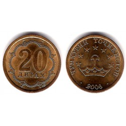 (4.2) Tayikistán. 2006. 20 Dram (SC)