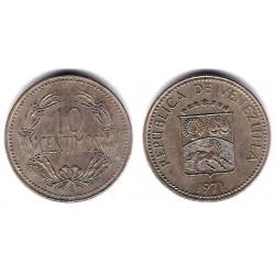 (YA40) Venezuela. 1971. 10 Céntimos (MBC+)