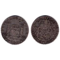 Carlos III. 1767. 8 Reales (MBC) (Plata) Ceca de Mejico