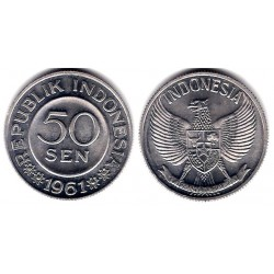 (14) Indonesia. 1961. 50 Sen (SC)