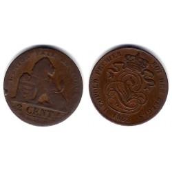 (4.2) Bélgica. 1863. 2 Cents (BC)