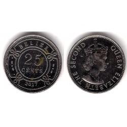 Belice. 2017. 25 Cents (EBC)