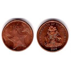 (218.2) Bahamas. 2009. 1 Cent (EBC)