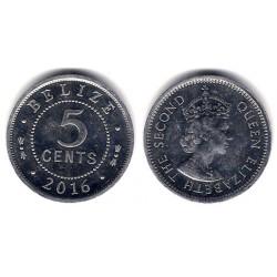 Belice. 2016. 5 Cents (MBC)