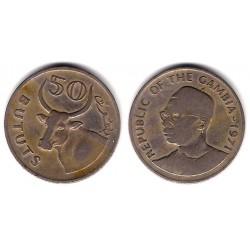 (12) Gambia. 1971 .50 Bututs (BC+)