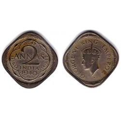 (541) India Británica. 1940. 2 Annas (MBC-)