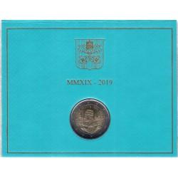 Ciudad del Vaticano. 2019. 2 Euro (SC)
