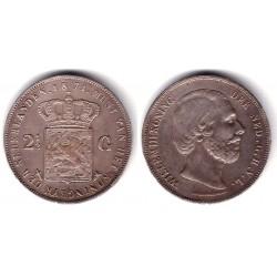(82) Paises Bajos. 1871. 2½ Gulden (MBC+) (Plata)