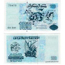 (137) Algeria. 1992. 100 Dinars (SC)