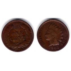(90a) Estados Unidos de América. 1903. 1 Cent (BC)