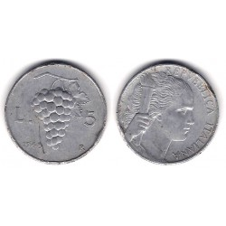 (89) Italia. 1948(R). 5 Lira (BC)