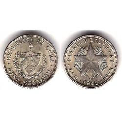 (A12) Cuba. 1949. 10 Centavos (EBC) (Plata)