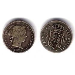 Isabel II. 1863. 1 Real (BC+) (Plata) Ceca de Sevilla