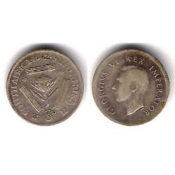 (26) Sudáfrica. 1942. 3 Pence (BC) (Plata)