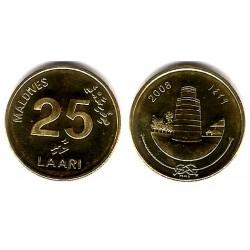(71a) Maldivas. 2008. 25 Laari (SC)