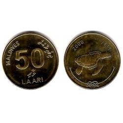 (72a) Maldivas. 2008. 50 Laari (SC)